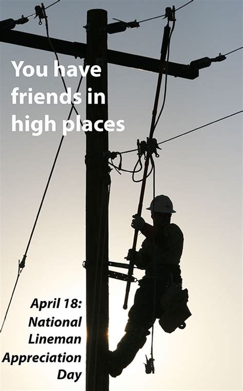 linemen appreciation day april  lineman electrical