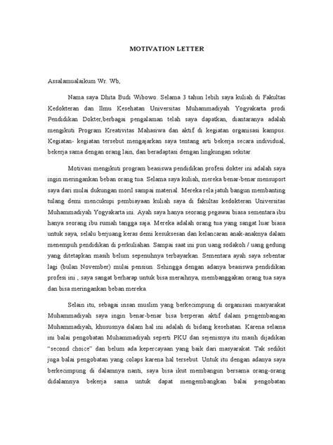 contoh surat motivasi letter