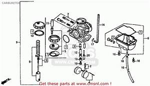Honda Xr80r 1985  F  Usa Carburetor