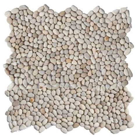 solistone micro pebble playa beige 12 in x 12 in x 6 35