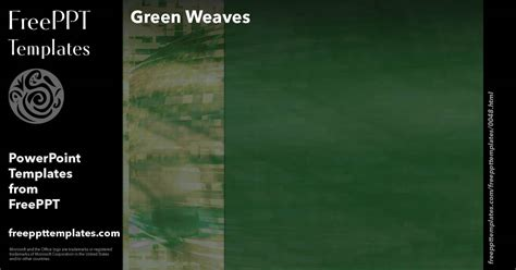 green weaves powerpoint templates