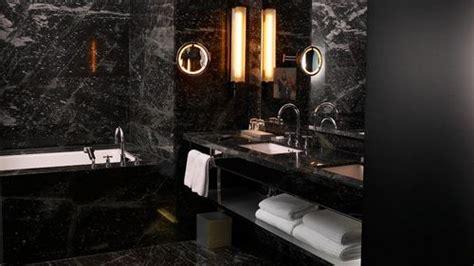 Black Marble Tile Bathroom