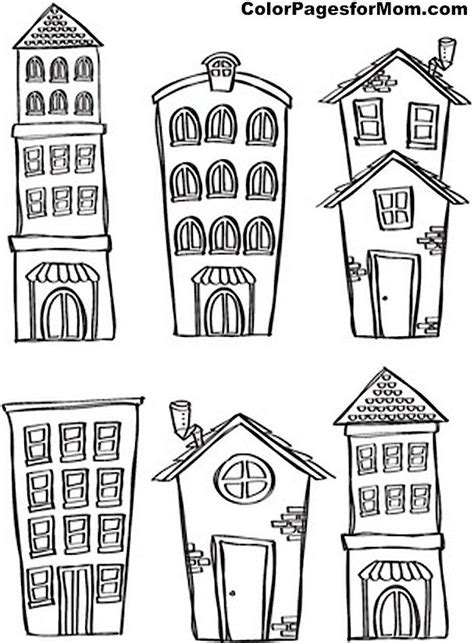 house coloring page  coloring drawi