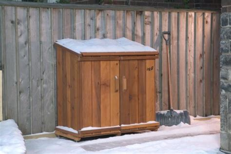 simple  easy steps  build  garbage storage shed
