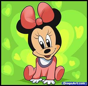 How to Draw Baby Minnie Mouse, Step by Step, Disney ...