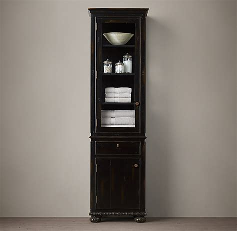 french empire tall bath cabinet
