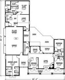 Floor Plans With Inlaw Suite by Southern Country House Plans Home Design 20944