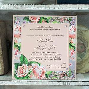 how to make rosemoor floral wedding stationery With wedding invitations to write yourself