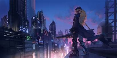 Anime 4k Cyberpunk Wallpapers Futuristic Skyscrapers Desktop