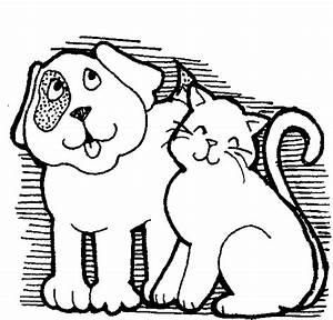Black And White Cat And Dog Clipart