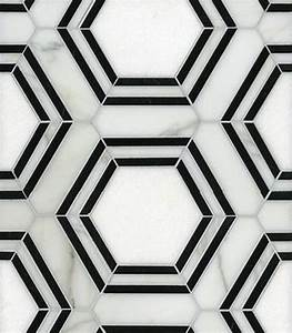 37 black and white hexagon bathroom floor tile ideas and for Black and white hexagon tile floor