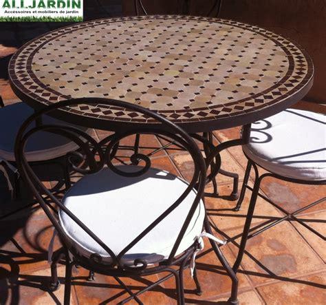 Table De Jardin Mosaique Fer Forge by Table De Jardin En Fer Forg 233 Mosaique