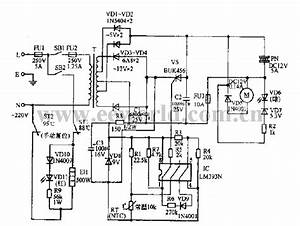 Drinking Fountain Circuit Diagram 01 - Electrical Equipment Circuit - Circuit Diagram