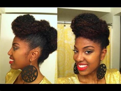 easy updofaux hawk  natural hair youtube