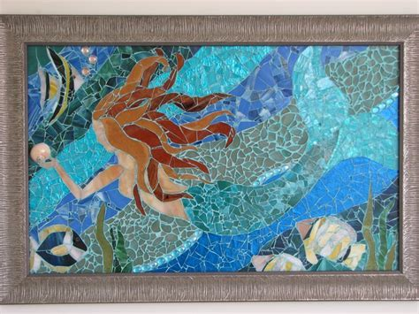 1000  images about CRAFT: SEA GLASS WALL ART on Pinterest