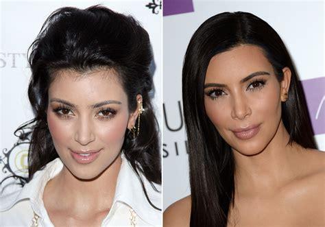 les sourcils de kim kardashian avantapres sourcils de