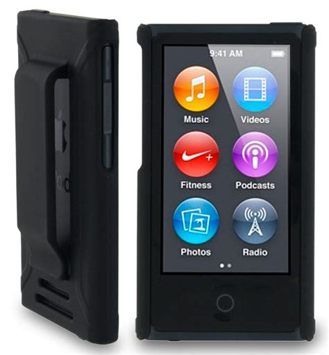 ipod nano generationen black shell cover belt clip holster for apple ipod nano 7 7th 8th ebay