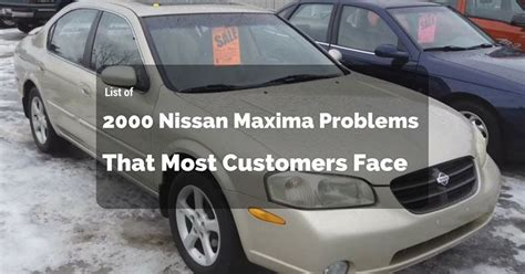 List Nissan Maxima Problems That Most Customers Face