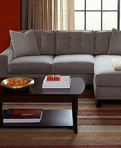 Clarke fabric sectional sofa living room furniture sets for Macy s orange sectional sofa
