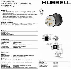 Hubbell Wiring Systems Hbl2320 Nylon Face Twist