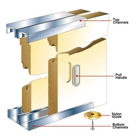 Cupboard Door Track by Slik Sliding Cupboard Door Gear Track Kit 1219mm Door