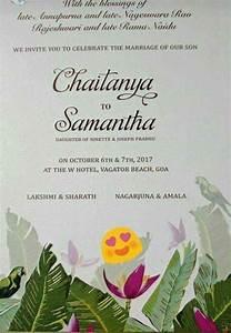 exclusive here39s wedding card of samantha and naga chaitanya With wedding invitation cards goa