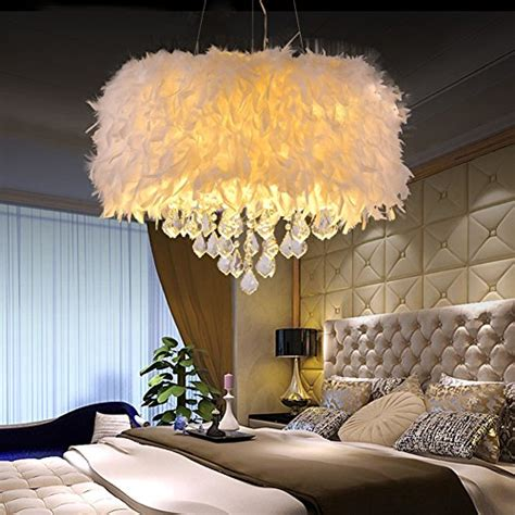 surpars house white feather crystal chandelier  light