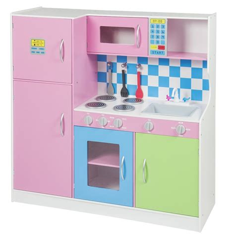 Girls Pretend Play Kitchen Set Toddlers Kids Fun With