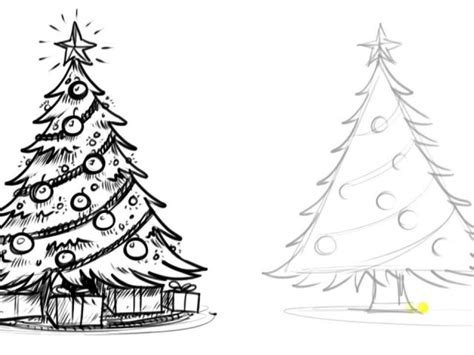 christmas tree drawing in pencil tree sketch pencil drawing tree pencil drawing at getdrawings free for personal use