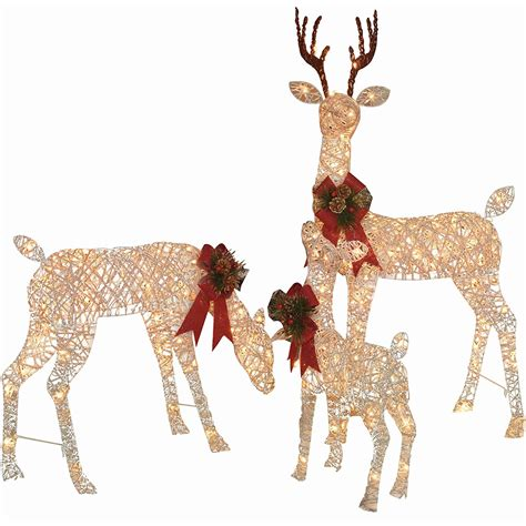 lighted outdoor deer  christmas decorations