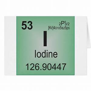 Iodine Individual Element of the Periodic Table Card | Zazzle