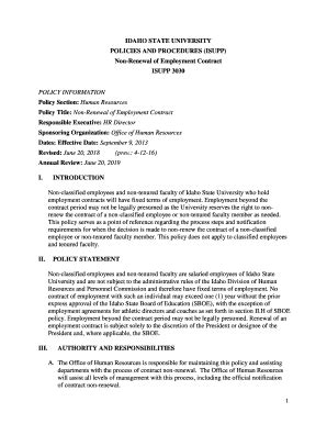 Editable employment contract renewal - Fill Out & Print Forms, Download in Word & PDF