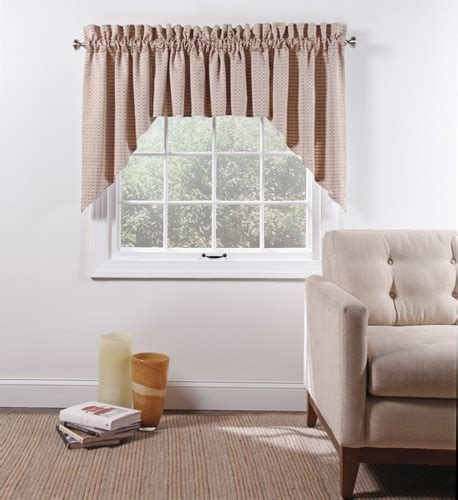 Boxwood Woven Lined 3 Piece Curtain Set   Curtain & Bath
