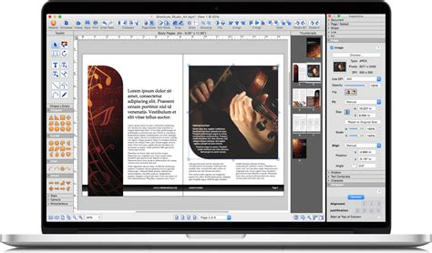 Three Quarters Apple Brochure Template Design And Layout Istudio Publisher Page Layout Software For Desktop