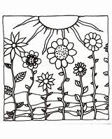Coloring Pages Sunset Sun Sunsets Adult Flowers Examples Printables Hand Hills Flower Printable Drawn Sheets Drawing Colored Drawings Ocean Etsy sketch template
