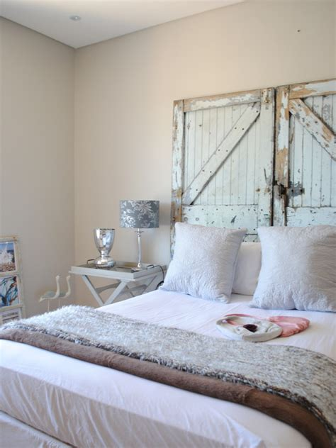 shabby chic headboard ideas old doors headboard home design ideas pictures remodel and decor