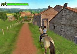Riding and training horse in horse life adventures wii game