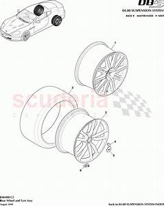 Aston Martin Dbs V12 Rear Wheel And Tyre Assembly Parts