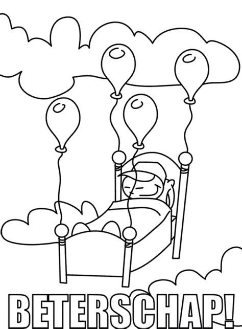 Beterschap Kader Kleurplaat by Kleurplaat Beterschap 187 Animaatjes Nl