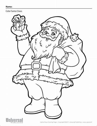 Christmas Coloring Santa Activities Printables Upub Navigation