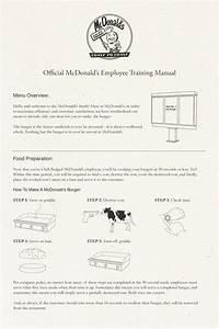 The Original Mcdonald U2019s Employee Training Manual Is A Must