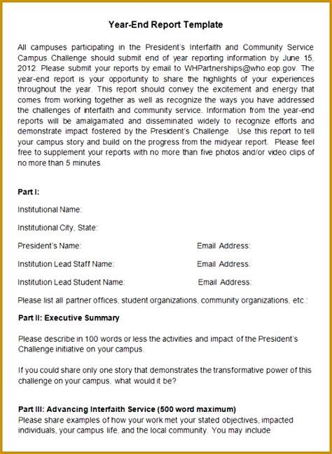 year  summary report template fabtemplatez