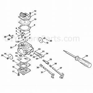 Stihl Ms 660 Chainsaw  Ms660 Arctic  Parts Diagram  Carburetor Wj