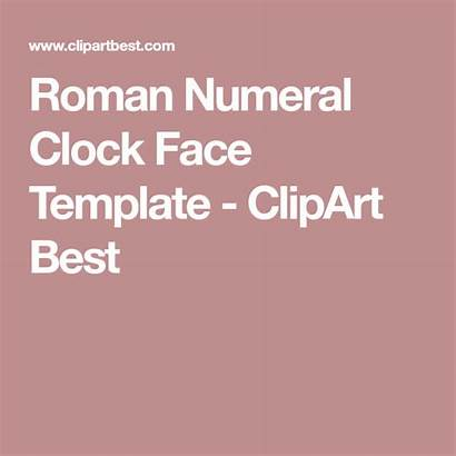 Roman Clock Face Numeral Template Numerals Clipart