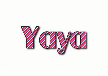 Yaya Text Logos