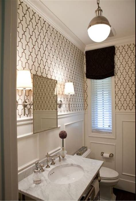 bathroom wallpaper ideas jll design what to do with the powder room Half