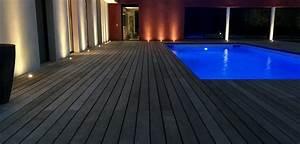 Eclairage Terrasse Piscine : eclairage d 39 un tour de piscine et d 39 une terrasse bois exotique aix en provence am nagement ~ Melissatoandfro.com Idées de Décoration