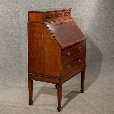 bureau writing desk antique writing desk bureau edwardian mahogany antiques