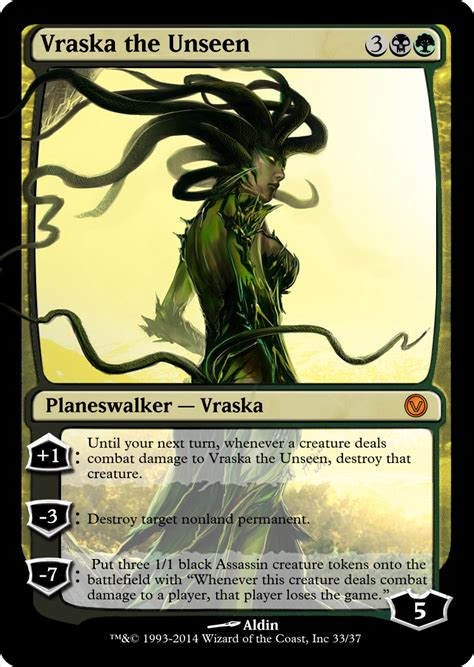 Vraska The Unseen Duel Deck by The Gallery For Gt Vraska The Unseen Altered