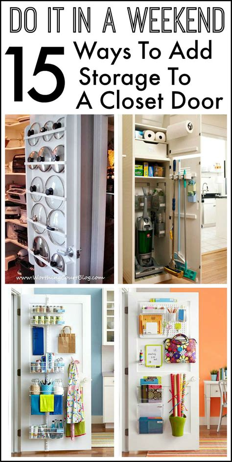 kitchen closet pantry ideas 15 ways to use the back of a closet door for storage and